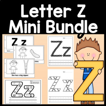 Letter Z Activities {Letter Z Book and 5 Letter Z Worksheets!}