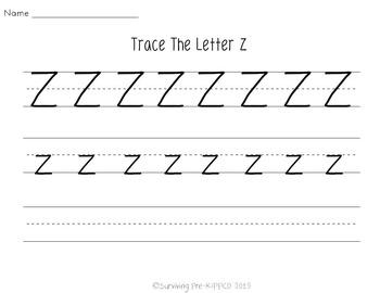 Letter Z Activity Pack