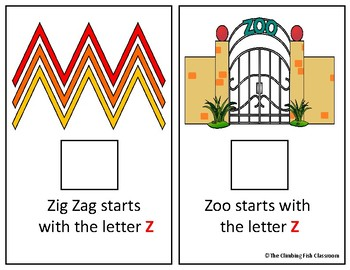 Letter 'Z' Adapted Book