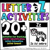Letter Z Alphabet Activities   Recognition, Formation, and Sounds