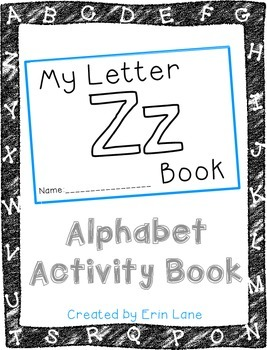 Letter Z: Alphabet Activity Book