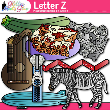 Letter Z Alphabet Clip Art {Teach Phonics, Recognition, and Identification}