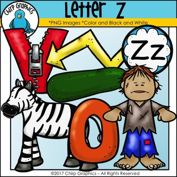 Letter Z Alphabet Clip Art Set - Chirp Graphics