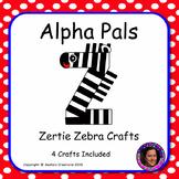 Letter Z Alphabet Craft: Zertie Zebra  Alpha Pal