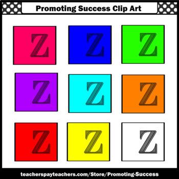 Letter Z Clipart, Beginning Sounds Clip Art, SPS