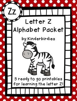 Letter Z Alphabet Packet