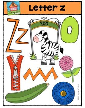 Letter Z - Alphabet Pictures {P4 Clips Trioriginals Digital Clip Art}
