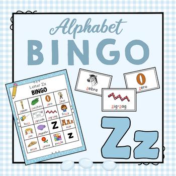 Letter Z Bingo Game