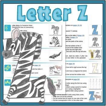 Letter Z Bundle: 1 Week Of Complete Curriculum Lessons