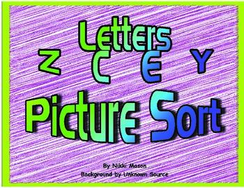 Letter Z C E Y Picture Sort Saxon Phonics