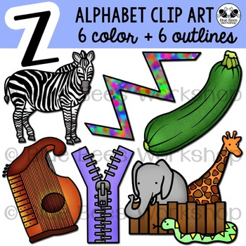 Letter Z Clip Art Alphabet / Beginning Sound Z