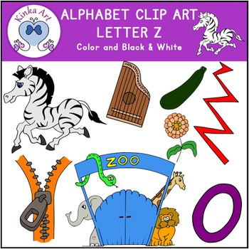 Letter Z Clip Art {Beginning Sounds} Alphabet