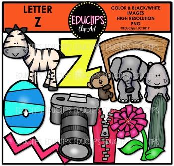 Letter Z Clip Art Bundle {Educlips Clipart}