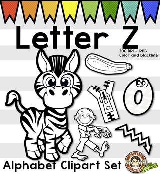 Alphabet Clip Art: Letter Z Phonics Clipart Set - Clip Art