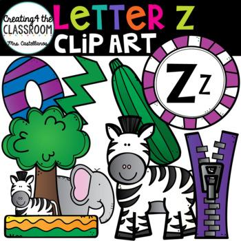 Letter Z Clipart {Alphabet Clip art}