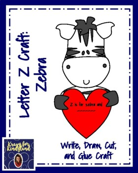 Letter Z Craft: Zebra