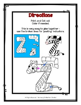 Letter Z Craftivity - Zebra - Zoo Phonics Inspired - Color & BW Versions