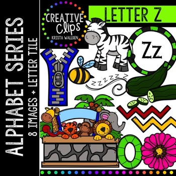 Letter Z {Creative Clips Digital Clipart}