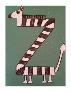 Letter Z Cut/Paste Craft Template - Z is for Zebra!