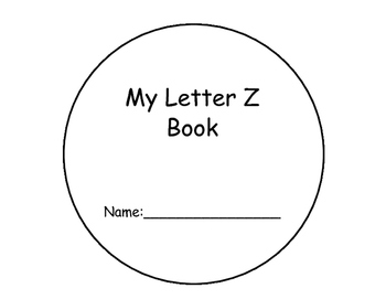 Letter Z Interactive Book