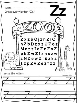 Letter Z {Letter of the Week}