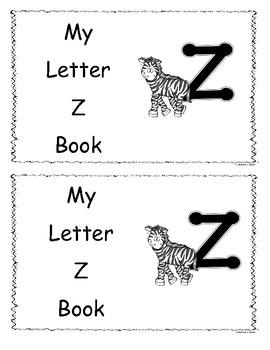 Letter Z Little Reader/Book