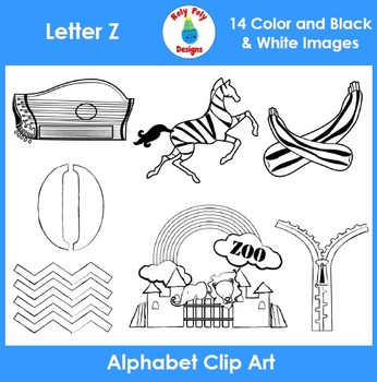 Letter Z Phonics Clip Art Set