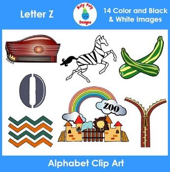 Letter Z Phonics Clip Art Set