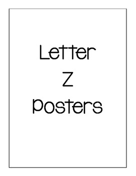Letter Z Posters