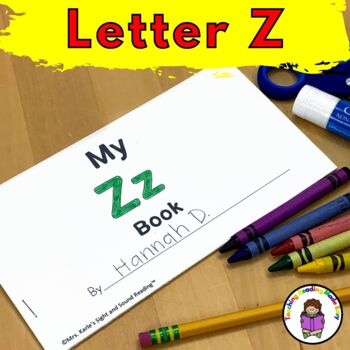 Letter Z-  Print and Go Letter of the Week lessons