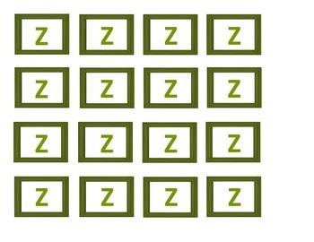 Letter Z Sort