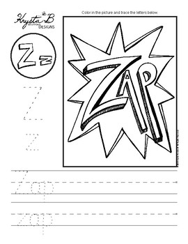 Letter Z Trace and Write Worksheet Pack