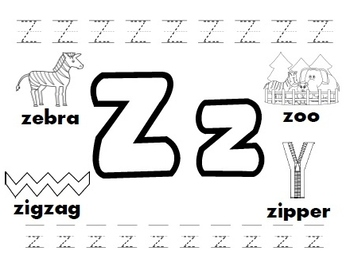 Letter Z Worksheet | Teachers Pay Teachers