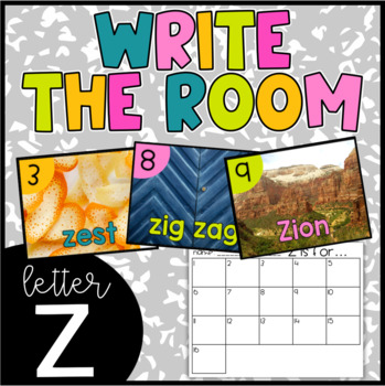 Letter Z Write the Room- Literacy Station