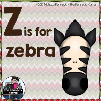 Letter Z is for Zebra