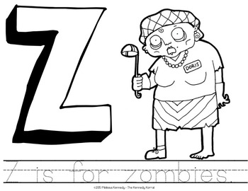 Letter Z is for Zombie {Halloween}