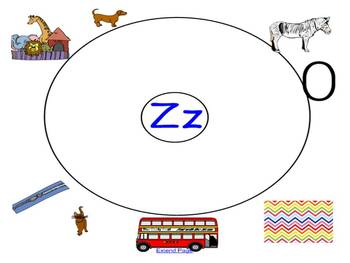 Letter Z and Q Alphabet Picture Sort