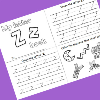 Letter Z booklet