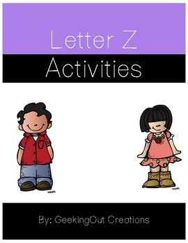 Letter Z from the Alphabet Mega Bundle/Letter of the Week