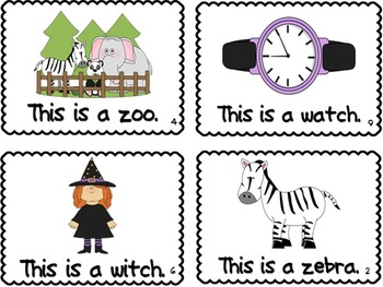 Letter Z&W Book of Beginning Sounds-Emergent Reader w/Running R-CCSS Aligned