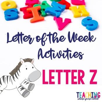 Letter Zz Activity Pack