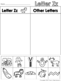 Letter Zz Beginning Sound Sort/Phonemic Awareness
