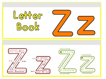 Letter Zz Binder Book