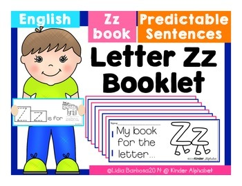 Letter Zz Booklet- Predictable Sentences