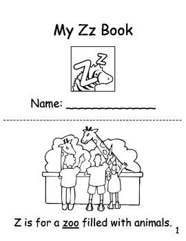 Letter Zz Coloring Book