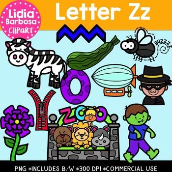 Letter Zz Digital Clipart