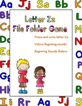Letter Zz File FoldeGame