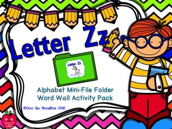 Letter Zz Mini-File Folder Word Wall Activity Pack