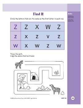 Letter Zz (Zebra)