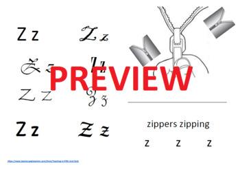 Letter Zz book